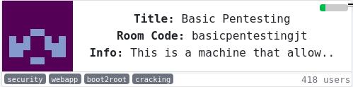 CTF (Basic Pentesting) de TryHackMe